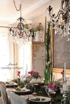 French Country Dinning Room ♡