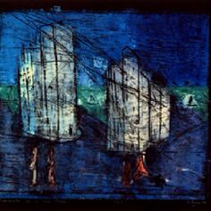 Tenements in a Sea Town - Woodblock - Anne Ryan