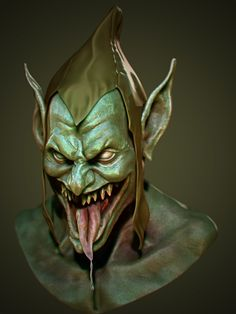 Fan Art Speed Sculpt of Goblin, Concept by Ben Oliver