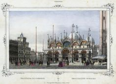 Venezia, Basilica di S. Marco (National Library of Poland - 1847, lithography)