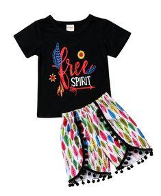 Free Spirit Toddler Girl Summer Set