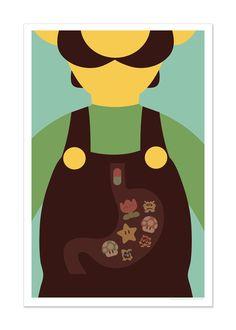 Dr. Mario inspired art print 12x18. $10.00, via Etsy.