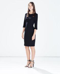 ZARA - WOMAN - DRESS WITH SHOULDER ZIP