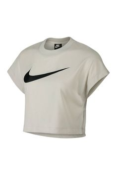 eecace4f9434e Swoosh Short Sleeve Crop Top Athletic Outfits