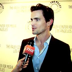 Watching Matt Bomer Laugh Is the Most Beautiful Sight in the World  @Katie Steffen Tom Hiddleston look out!