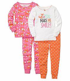 Carters Infant Fox 4Piece Sleepwear Set #Dillards