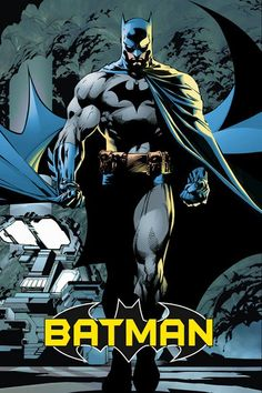 A fantastic Batman poster! The Caped Crusader is a legendary DC Comics superhero! Art by Jim Lee. Check out the rest of our excellent selection of Batman posters! Need Poster Mounts. Arte Dc Comics, Batman Comics, Dc Comics Poster, A4 Poster, Comic Poster, Poster Prints, Art Prints, Batman Arkham Origins, Batman Cape