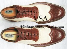 """THE SPECTATOR SHOE or CO-RESPONDENT...for men...antique through modern...from """"The Vintage Shoe Addict""""..."""