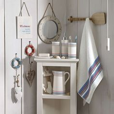 Wide range of Bathroom Collections available to buy today at Dunelm, the UK's largest homewares and soft furnishings store. Order now for a fast home delivery or reserve in store. Nautical Interior, Seaside Decor, Relaxing Places, Bathroom Collections, Salvaged Wood, Online Furniture, Soft Furnishings, Bathroom Accessories, Decor Styles
