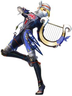 Sheik, Battle - Characters & Art - Hyrule Warriors Godess' Harp is an AWESOME weapon!