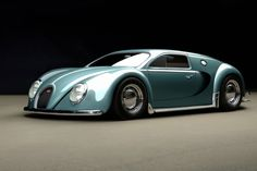 Bugatti Veyron 1945 Old Retro Car Poster