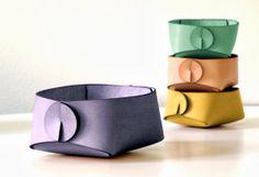 Custom color leather desk organizer minimalist by SKANDINAVIOUS, $66.00