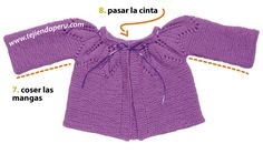 Ropón o chaquetita con canesú de hojas - Tejiendo Perú Knitting For Kids, Baby Knitting, Knitting Patterns Free, Free Pattern, Baby Shower, Crop Tops, Sweaters, Women, Bb