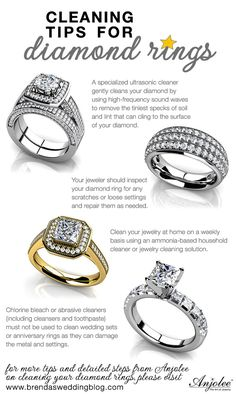 stop by the blog for great tips for cleaning your diamond