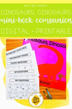 Enjoy this easy, no prep book companion for Dinosaurs, Dinosaurs!