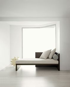 Calvin Klein Home Curator    paint in lighter architectural silhouette around bed