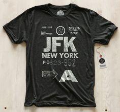 New York JFK Shirt by Pilot & Captain  Just $32 buck to look even more like a designer, type-lovin' nerd |Buy: Fancy