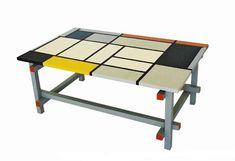 TDS - The Design Service -  Gerrit Rietveld Piet Mondrian De Stijl painted coffee sofa lamp tables, furniture
