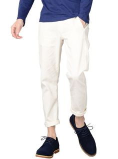 Amazon.co.jp: アンクル丈パンツ クロップドパンツ チノパン メンズ BKB02657: 服&ファッション小物通販