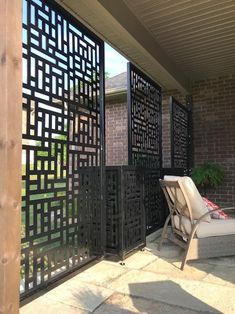 - Privacy Screen Metal Garden Fence Topper Decor Art - List of the most beautiful garden Patio Privacy Screen, Privacy Fence Designs, Outdoor Privacy, Privacy Walls, Privacy Screens, Metal Garden Fencing, Garden Fence Art, Pergola Patio, Backyard Patio