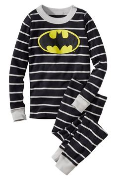 Hanna Andersson 'Batman' Organic Cotton Two-Piece Fitted Pajamas (Toddler Boys, Little Boys & Big Boys) available at #Nordstrom