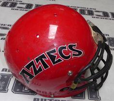 Buy San Diego State University SDSU Aztecs Game Used Worn Football Helmet SD College at online store San Diego State University, Football Helmets, Aztec, College, Sd, Games, Nike, University, Gaming