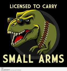 Licensed to carry Small Arms.