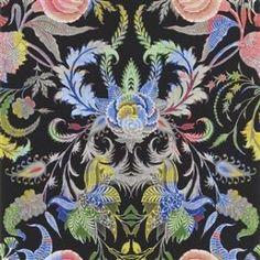 Christian Lacroix Noailles Wallpaper in Nuit