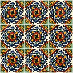 Mexican hand painted tiles