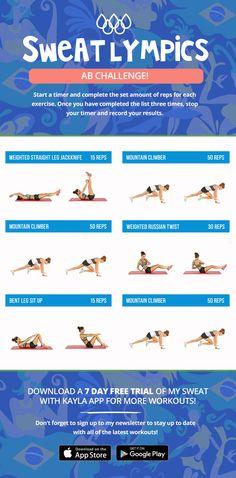 Sweatlympics Ab Challenge! - Kayla Itsines