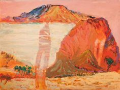 Guy Warren Conversations with Alice: Red Rock with memory Contemporary Landscape, Abstract Landscape, Contemporary Artists, Landscape Paintings, Garden Painting, Painting & Drawing, National Art School, Amazing Paintings, Australian Artists