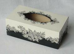 Krabička na kapesníčky * dřevěná - decoupage.