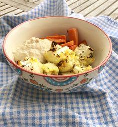 vegan und köstlich ::: gerösteter blumenkohl mit hummus