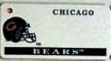 """This is an NFL Chicago Bears Team License Plate Key Chain or Tag. An excellent and affordable gift for an avid NFL fan! The key chain is available with engraving or without engraving. It is a standard key chain made of durable plastic and size is approximately 1.13"""" x 2.25"""" and 1/16"""" thick."""