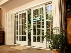 French patio doors from Renewal by Andersen bring the beauty of outdoors inside. Our sliding French doors offer space-saving convenience in a sleek design. French Patio, French Doors Patio, Sliding Glass Patio Doors, Exterior French Doors, Rustic Patio Doors, Exterior Sliding Glass Doors, Double Patio Doors, Modern Patio Doors, Exterior Patio Doors