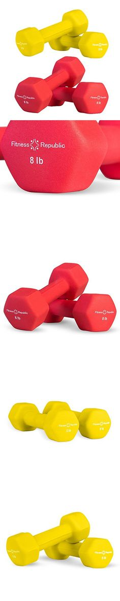 Fitness Republic Neoprene Dumbbells Pair Combo (5lb and 8lb Pair)