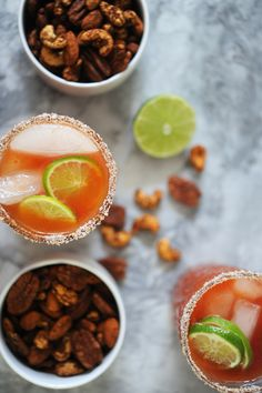 end of summer michelada + spiced lime nuts #labordayweekend