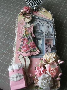Prima Julia Nutting Doll Stamp tag