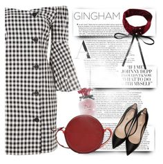 """Check Republic: Gingham Dress"" by andrejae ❤ liked on Polyvore featuring Nicholas Kirkwood, Diane Von Furstenberg, gingham, polyvoreeditorial and polyvorecontest"