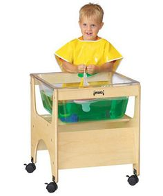 Jonti-Craft See-Thru Mini Sensory Table with Lego Plate - Activity Tables at Hayneedle