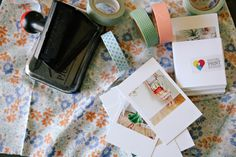 Prints from your Instagram account can be turned into cute business cards - just add washi tape printed with your details or a hand-written note. Order Business Cards, Cute Business Cards, Business Card Design, Roots And Wings, Hand Written, Instagram Accounts, Washi Tape, Printing On Fabric, Note