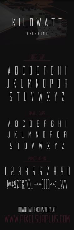 KILOWATT - FREE FONT on Behance
