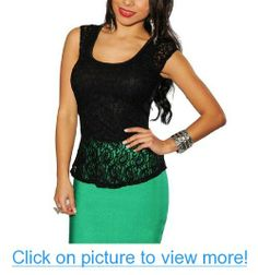 LoveLiness Black Lace Criss Cross Sleeveless Top Blouses One Size