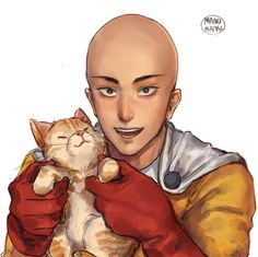 Saitama - One Punch Man. One Punch Man Memes, One Punch Man Funny, One Punch Man Manga, Anime One, Anime Manga, One Punch Man Wallpapers, Saitama Sensei, Page One, Caped Baldy