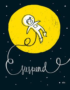 Suspend illustration. Kids room art?
