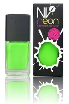 NV Florescent Neon Nail Polish - Lime Green £8.00  www.ezebeauty.co.uk