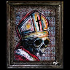 Me encargué de recrear una pieza que hice en 2012. (11x14 & quot; / 16x19 & quot; imagen) (tinta, pastel sobre papel tapiz de fondo) - #art #pope #illustration #popart #drawing #painting #darkart #portrait #fineart #skull # surrealista #fantasy #gothic #spooky #ink #lowbrowart #zombie #creature #instaart #skulls #sketch #bun #charcoal #artgallery #skeleton #horror #skeletons #popsurrealism #pastels #inkdrawing