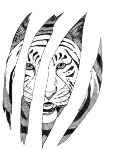 fantasy coloring pages 'tiger totem' totem by michelletraceyart ... - Coloring Pages Tigers Lions