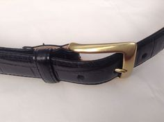 Bosca Essentials Men's Imported Italian Black Leather Belt  Size 42/105  #Bosca