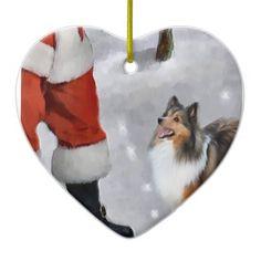 Shetland Sheepdog Sheltie Christmas Gifts Christmas Ornament